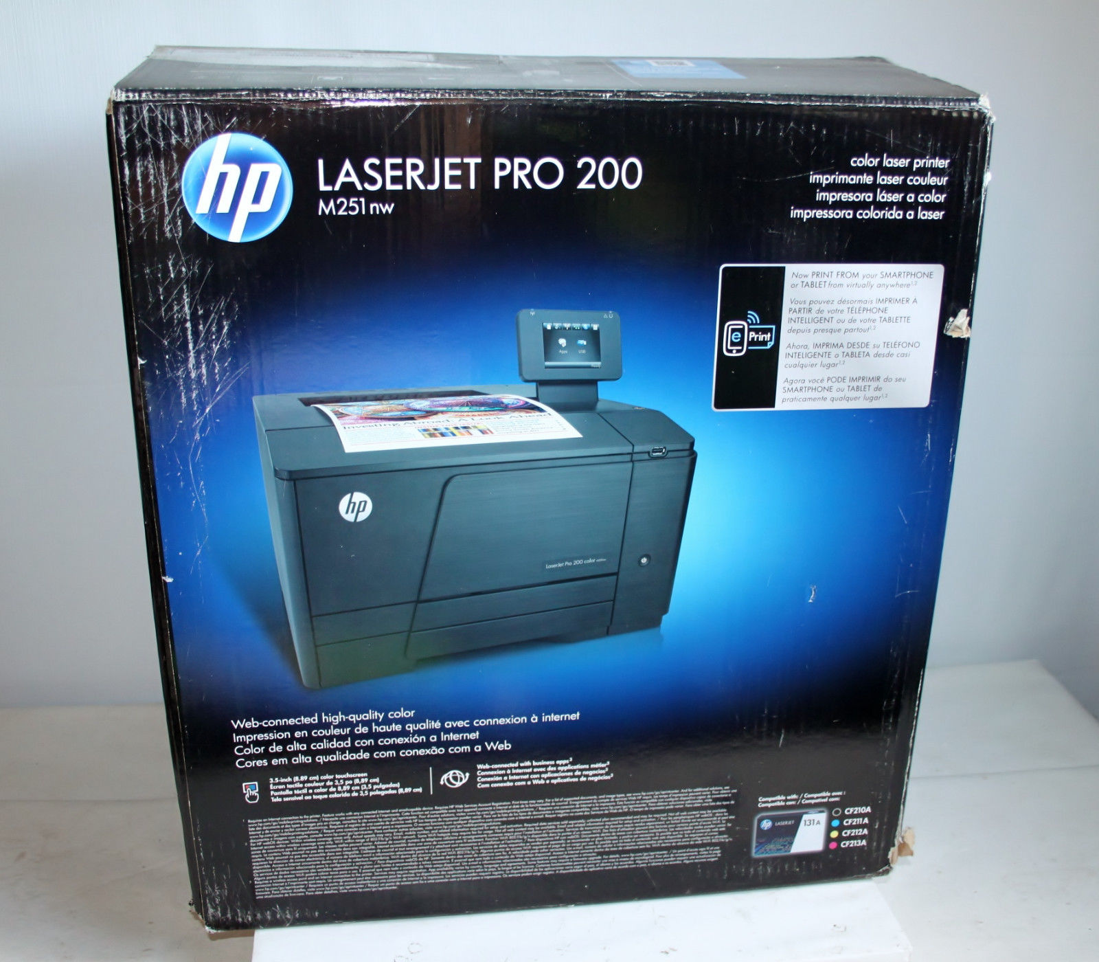 hp laserjet pro 200 m251nw wireless color printer. Black Bedroom Furniture Sets. Home Design Ideas